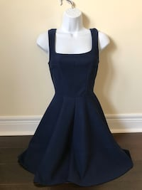 Mendocino navy blue cocktail party dress short size Small Toronto, M9C 1B8