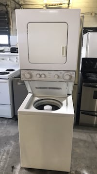 white stackable washer and dryer Toronto, M9M