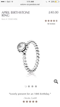 Pandora birth ring  Vaughan, L4K 5W4