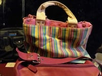 pink, blue, and yellow stripe tote bag Delta, 36258