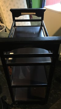 Baby's dark brown  wooden changing table