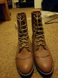 pair of brown leather boots Gilbert, 85233