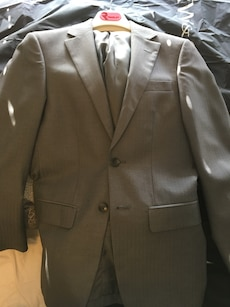 Grey 2 button jacket and pants