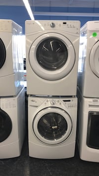 white front-load clothes washer and dryer set Toronto, M3J 3K7