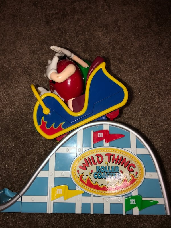 M&M Motorcyle and Roller Coaster dispenser (collectibles) 5817895b-b358-4fff-ab48-7080ed1508e2