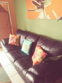 brown leather 3-seat sofa Fort Lauderdale, 33309