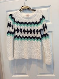 White, black, and green chevron scoop-neck sweater Myrtle Beach, 29579