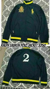 black and yellow Ralph Lauren polo jacket
