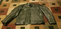 Black Leather Motorcycle Jacket with Armor El Paso