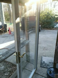 glass panel door with gray frame 59 km