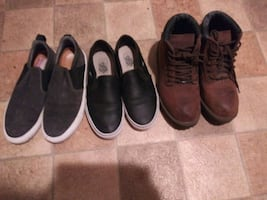 Sketcher Boots size9. Vans Size10 in womens.  Supply lab grey size8