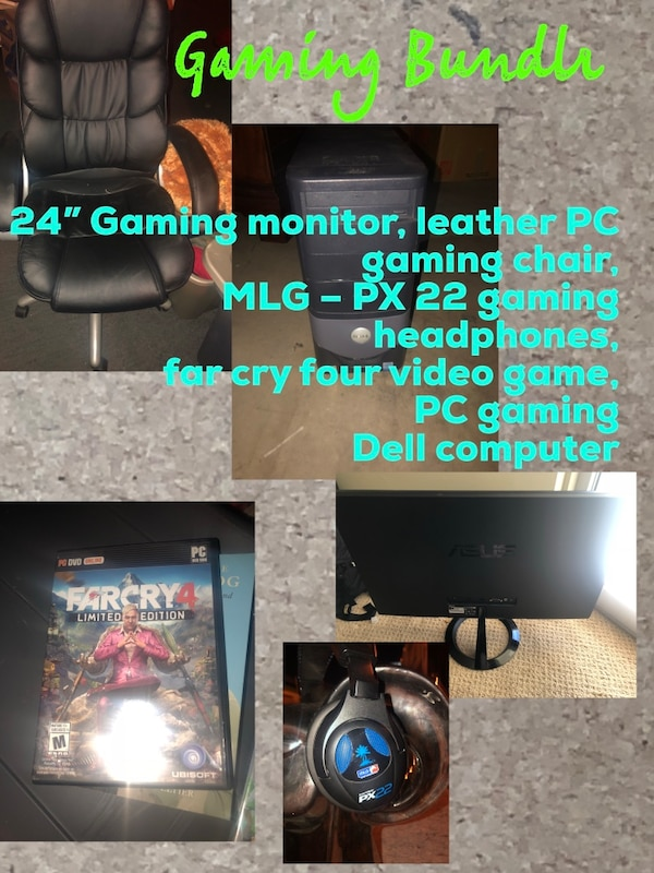 Sensational Asus 24 Inch Gaming Monitor Mlgpx 22 Gaming Headphones Dell Computer Pc Gaming Chair Far Cry 4 Pc Video Game Uwap Interior Chair Design Uwaporg