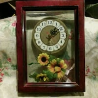 brown wooden framed analog clock Fresno, 93727