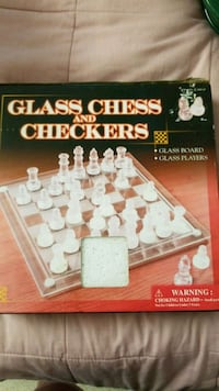 Glass Chess and Checkers Set. Sparta Township, 07871