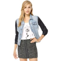 Aritzia | Talula Harlem Denim Jacket with Faux Lea Mississauga, L5N 3H9