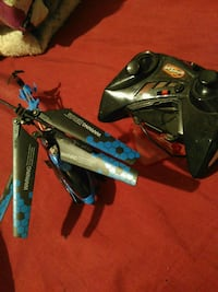 black and blue quadcopter with controller San Antonio