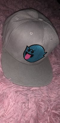 gray and blue fitted cap Long Beach, 90805