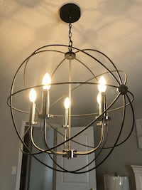 Black and silver chandelier, price firm! New Tecumseth, L9R