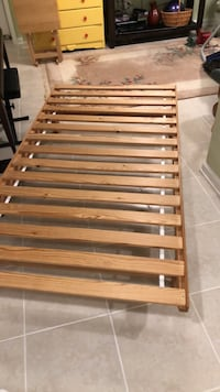 Twin bed frame with slats Mc Lean, 22101