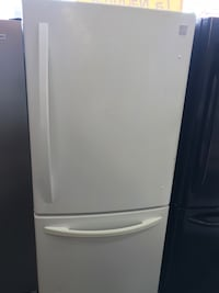 """Kenmore White 33"""" Inch Wide Bottom Freezer Fridge - Height is 67"""" Inch. It's in Clean and Good Working Condition  Paterson, 07501"""