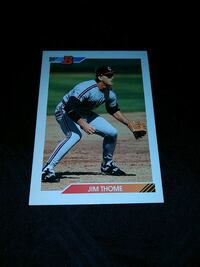 1993 BOWMAN JIM THOME ROOKIE BASEBALL CARD Upper Darby, 19026