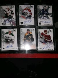 2016, 17  autographed future watch 6 hockey cards in cases