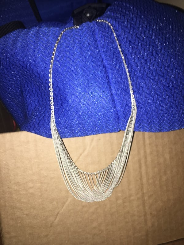 Solid .925 Sterling Silver Vintage Formal Gown Necklace (Custom Made) 4caf7068-41ff-414f-befb-e9b4a7dc95bd
