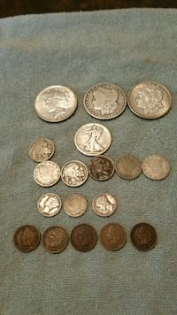 assorted round coins