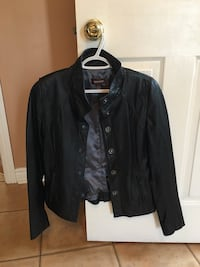 DANIER Real Leather Button Jacket