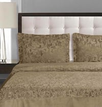 New 3pc Guillaume Home Floral Paisley Coverlet/Comforter-KING-Taupe Reg $200+ Toronto, M9W 3S2