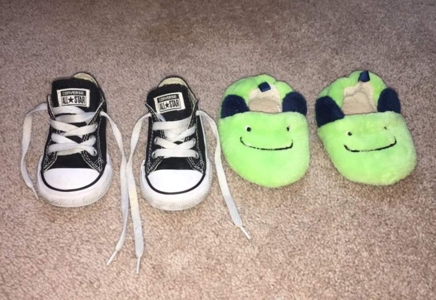 Photo Toddler converse & slippers