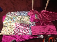 Queen girls comforter and 4 shams with two curtain panels bed skirt Howell