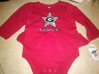 Georgia bulldog 6-12 girl onesie new Piedmont, 29673