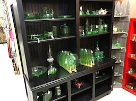 wall unit $50 Various.  Depression era dishes  Will entertain offers
