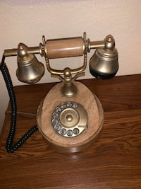 Onix marble telephone 18k gold plated  Mesquite, 75150