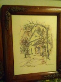 brown wooden framed painting of trees Toronto, M4C 1H6