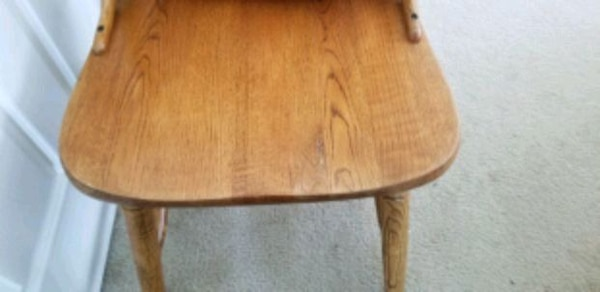 3 solid oak chairs