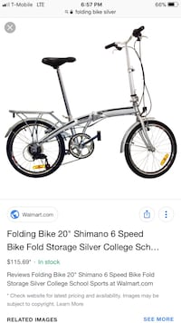 Brand new adult folding bike  Silver Spring, 20904
