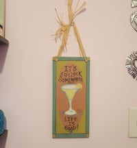 Cheeky Cocktail Bar Sign Wooden