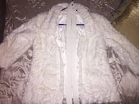 Brand new white fluffy coat with belt (with tags) Amherstburg, N9V 4E4