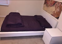Full-size bed + nightstand