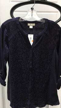 New Style&Co blouse Dark Grape color