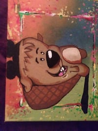 Beaver character painting