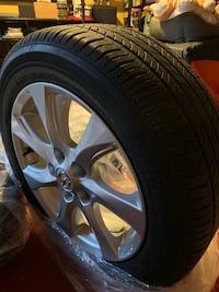 2010 Mazda 3 alloy rims and all season tires 205/55R/16 Mississauga, L4Y 3Y9