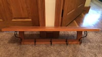 brown wooden wall mount rack Windsor, 13865