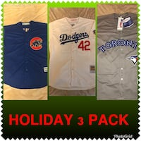 Holiday 3 Pack Brand New MLB