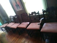 6 Estate Chairs - 5 no arm - 1 arm Foster, 02825