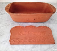 Terracotta Bread Loaf Pan and Bread Warmer Surrey