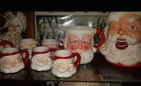 2 Santa pitchers and cups St. Clair County, 35054