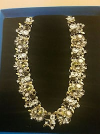 Crystal statement necklace Washington, 20018